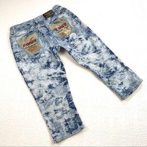 🌞 Coogi Embellished Cropped Jeans SZ 14W